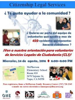 CLS volunteer orientation 8.24.16 SPA